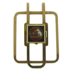 1956 RCA Award of Merit Gold and Enamel Money Clip Watch by J. E. Caldwell