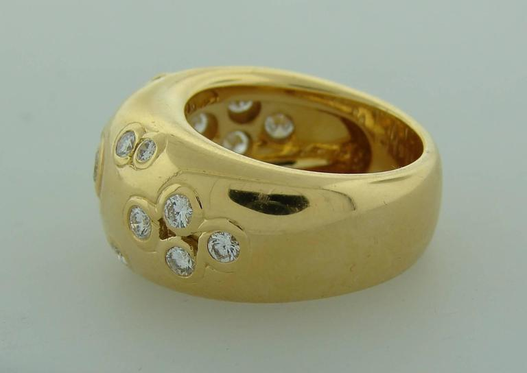 Women's 1994 Cartier Diamond Gold Band Ring For Sale