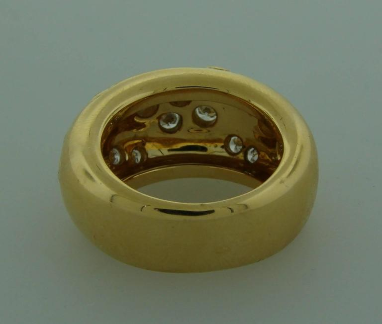 1994 Cartier Diamond Gold Band Ring For Sale 1