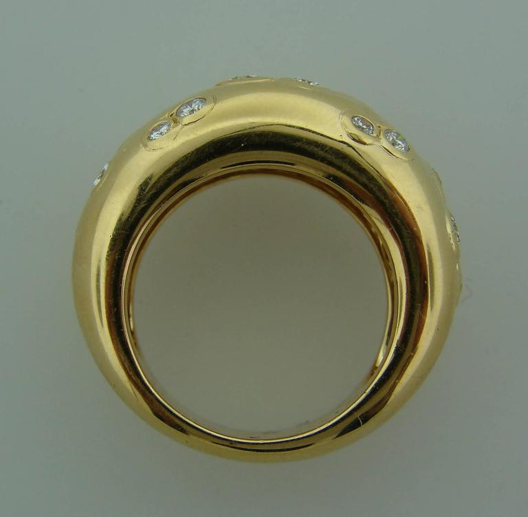 1994 Cartier Diamond Gold Band Ring For Sale 2