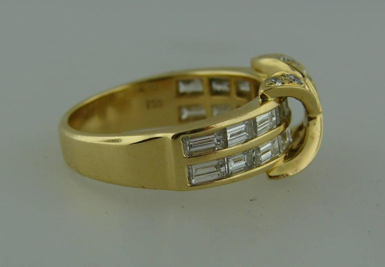 Tiffany & Co. Diamond Gold X Band Ring 4