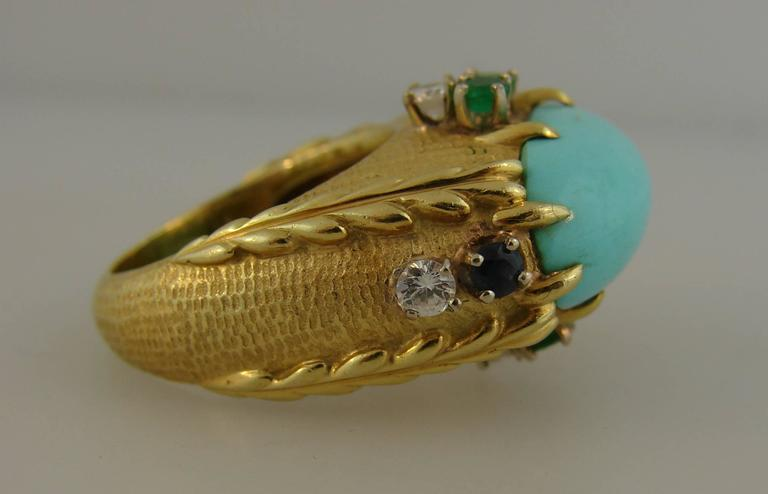 Women's Vintage Cartier 18k Yellow Gold Cocktail Ring