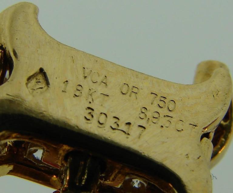Van Cleef & Arpels Diamond Yellow Gold Bracelet For Sale 5