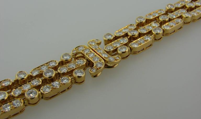 Van Cleef & Arpels Diamond Yellow Gold Bracelet For Sale 6