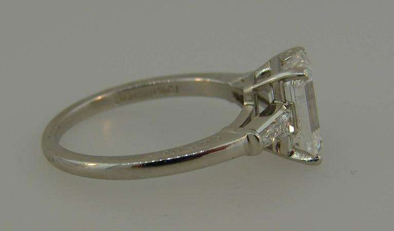 Cartier 2.03 Carat GIA Emerald Cut Diamond Platinum Engagement Ring 4
