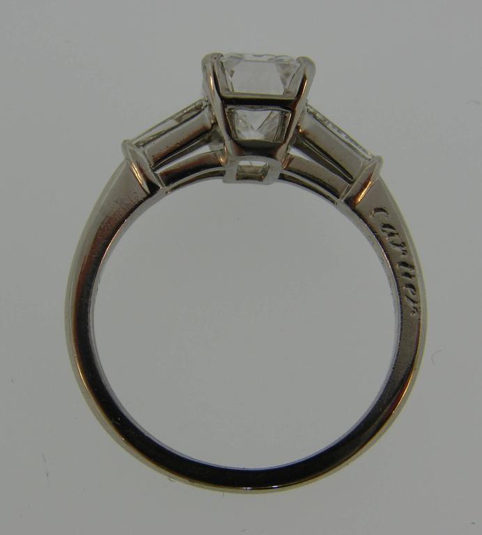 Cartier 2.03 Carat GIA Emerald Cut Diamond Platinum Engagement Ring 5