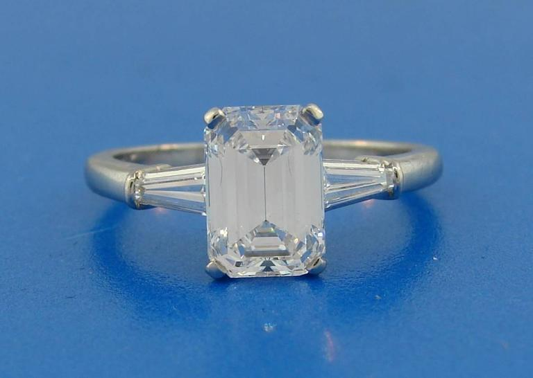 Cartier 2.03 Carat GIA Emerald Cut Diamond Platinum Engagement Ring 8