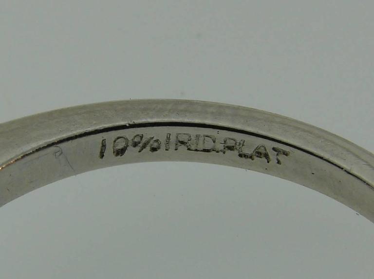 Cartier 2.03 Carat GIA Emerald Cut Diamond Platinum Engagement Ring 10