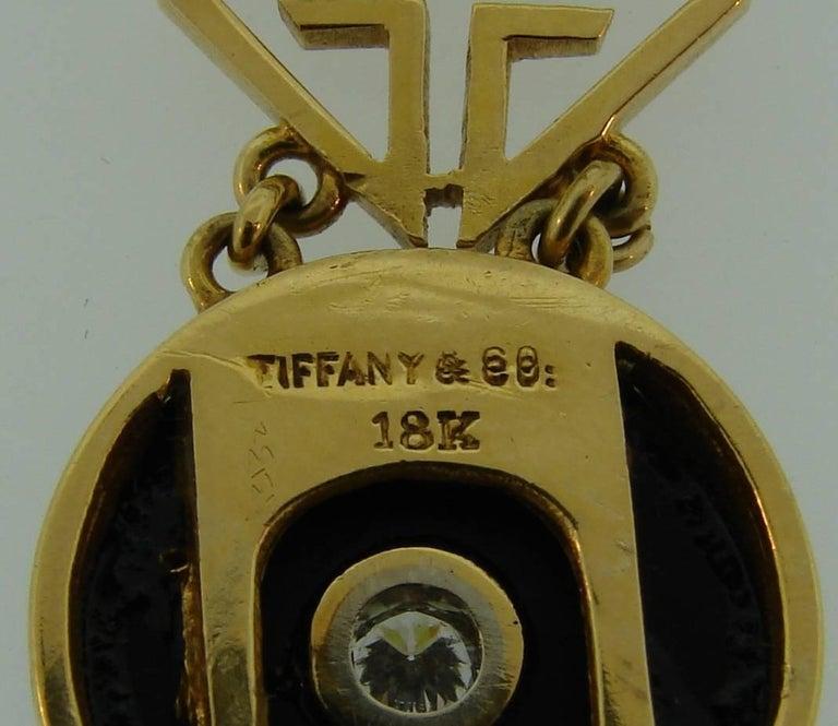 Tiffany & Co. Jade Onyx Diamond Yellow Gold Chinois Bracelet Art Deco, 1930s 6
