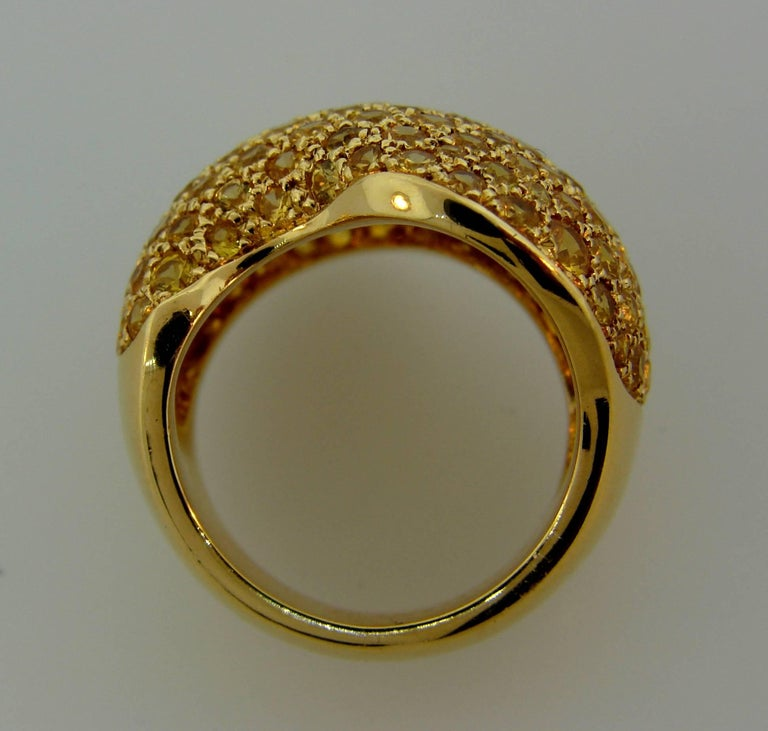 Van Cleef & Arpels Yellow Sapphire Gold Ring For Sale 1