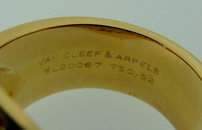 Van Cleef & Arpels Yellow Sapphire Gold Ring For Sale 2