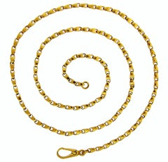 Cartier Yellow Gold Chain Necklace, 1970s