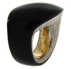 Vhernier Egeo Diamond Jet White Gold Ring