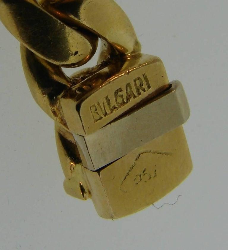Bulgari Sapphire Ruby Yellow Gold Link Bracelet Bvlgari, 1980s 5