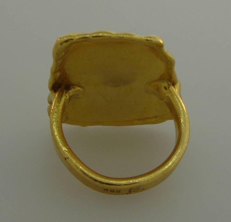 Jean Mahie 22 Karat Yellow Gold Ring For Sale 4