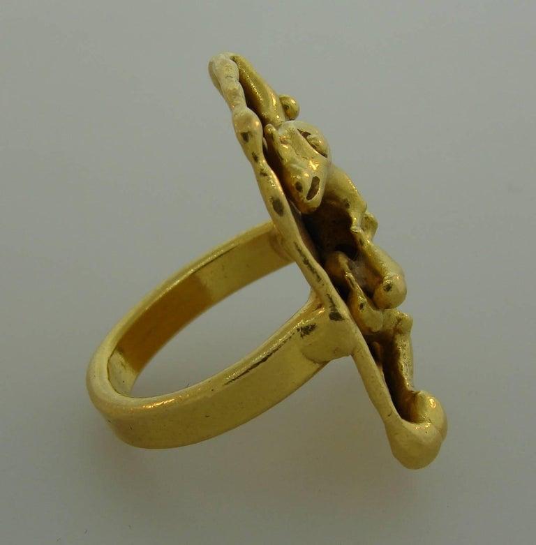 Jean Mahie 22 Karat Yellow Gold Ring For Sale 2