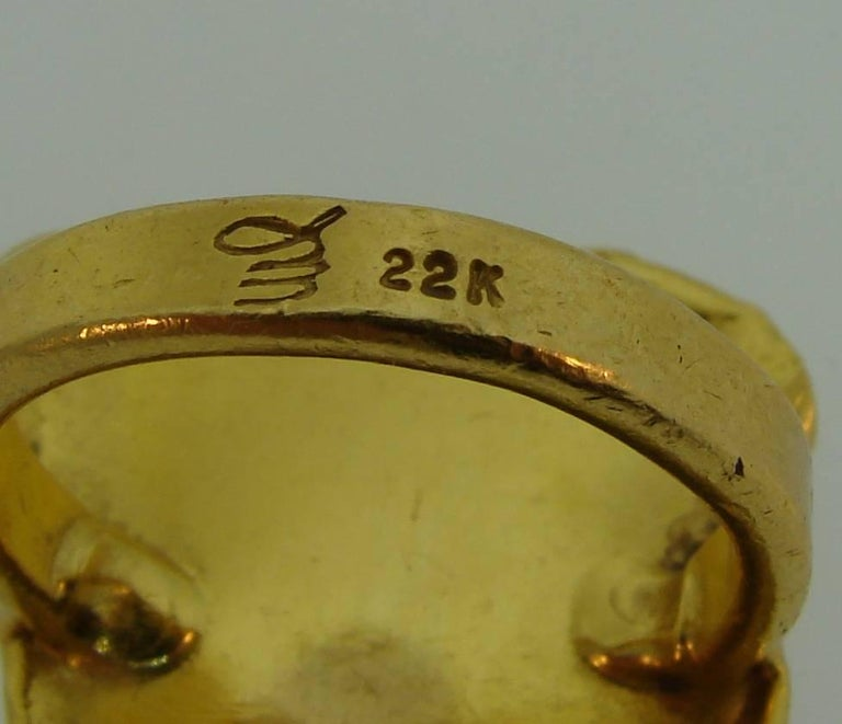 Jean Mahie 22 Karat Yellow Gold Ring For Sale 5