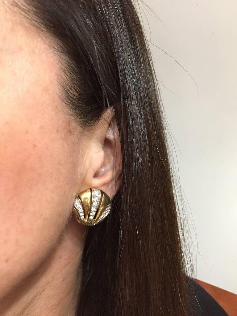 Van Cleef & Arpels Diamond Yellow Gold Earrings For Sale 4