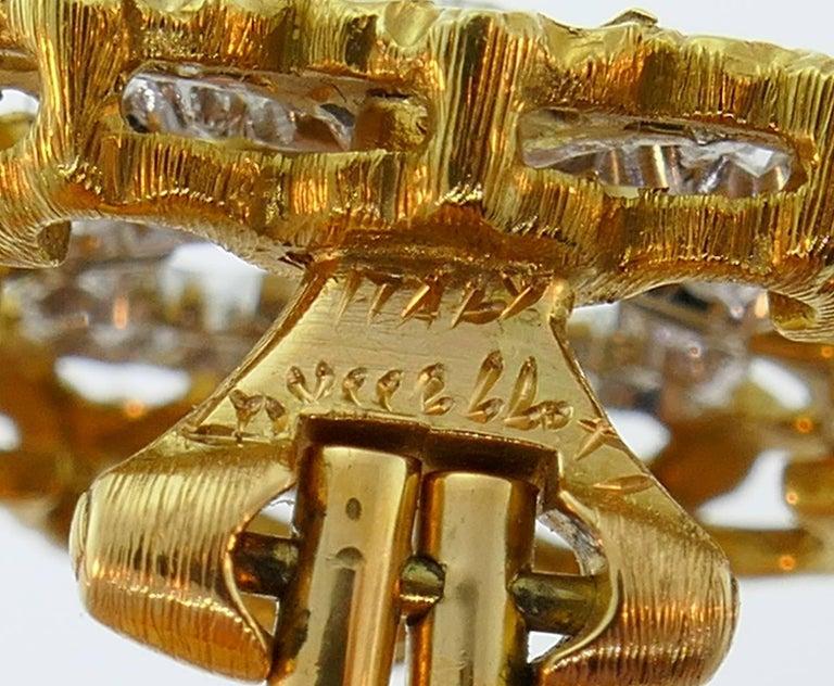 Buccellati Diamond Gold Clip-On Earrings For Sale 3