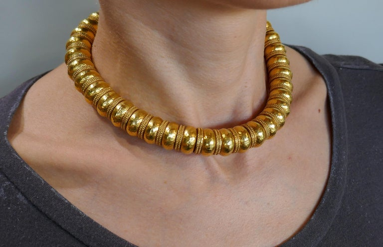 Lalaounis 22 Karat Yellow Gold Necklace For Sale 2