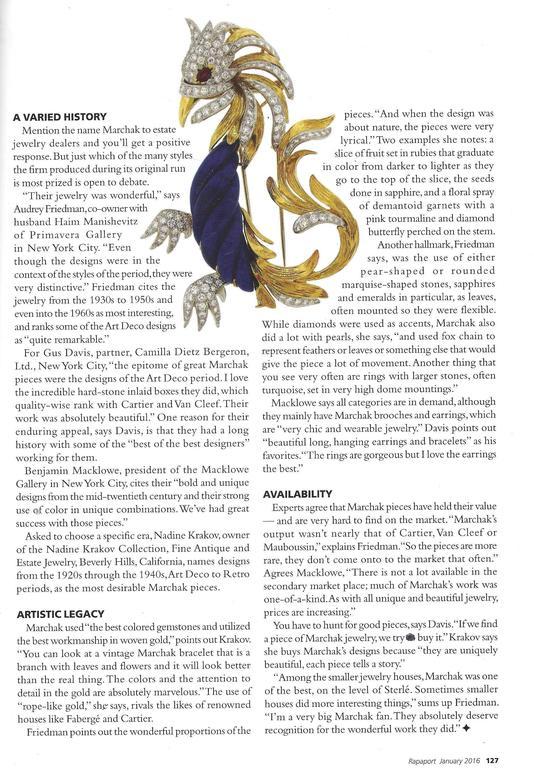 Marchak Lapis Lazuli Ruby Diamond Gold Platinum  Firebird Pin Brooch For Sale 6