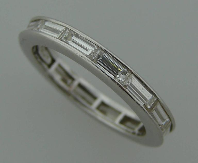 Harry Winston Baguette Diamond Platinum Wedding Band Ring at 1stdibs
