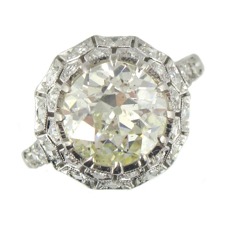 deco 2 65 carat platinum engagement ring at 1stdibs