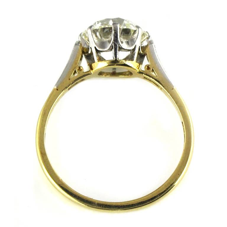 2 56 Carat Diamond Gold Solitaire Engagement Ring at 1stdibs