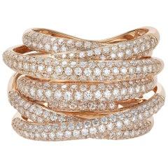 Rose Gold and Diamond Multi Layered Ring