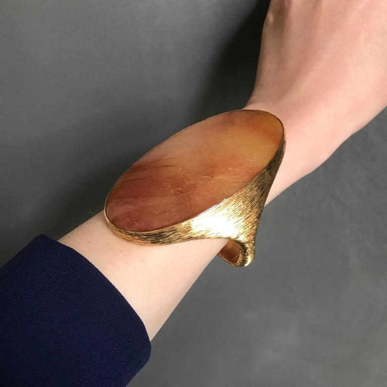 Andrew Grima Quartz Yellow Gold Cuff, 1973 2