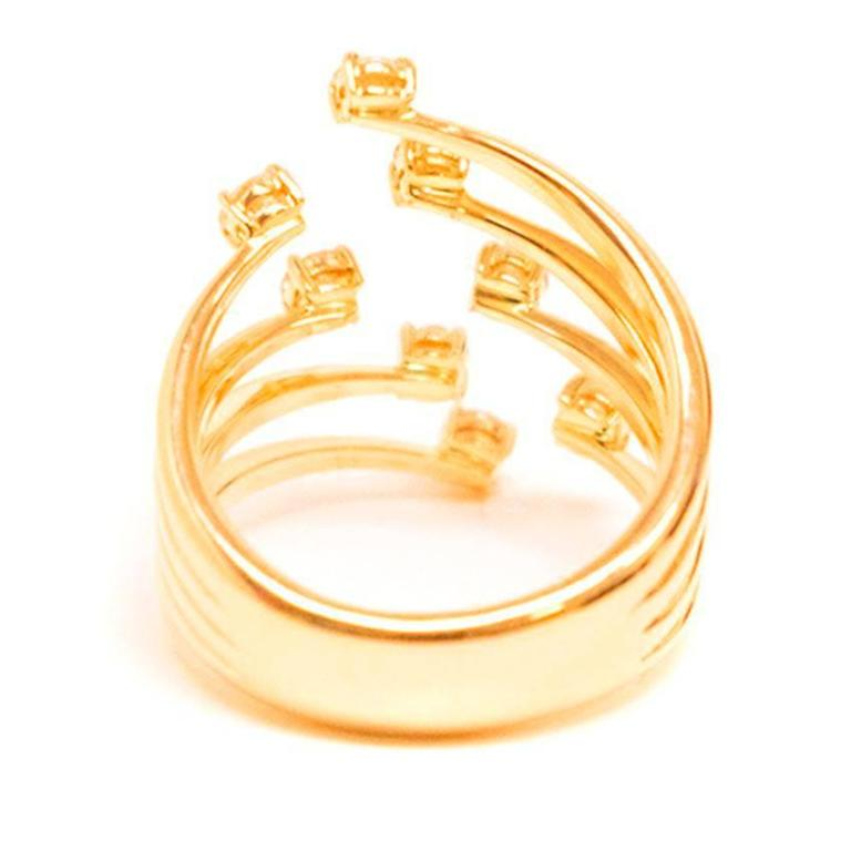 bespoke gold stacked prong ring for sale at