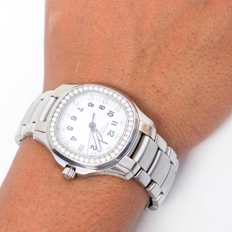 Patek Philippe Aquanaut Luce Stainless Steel Diamond Watch At 1stdibs