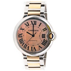 Cartier Ladies Rose Gold Stainless Steel Ballon Bleu de Cartier Wristwatch