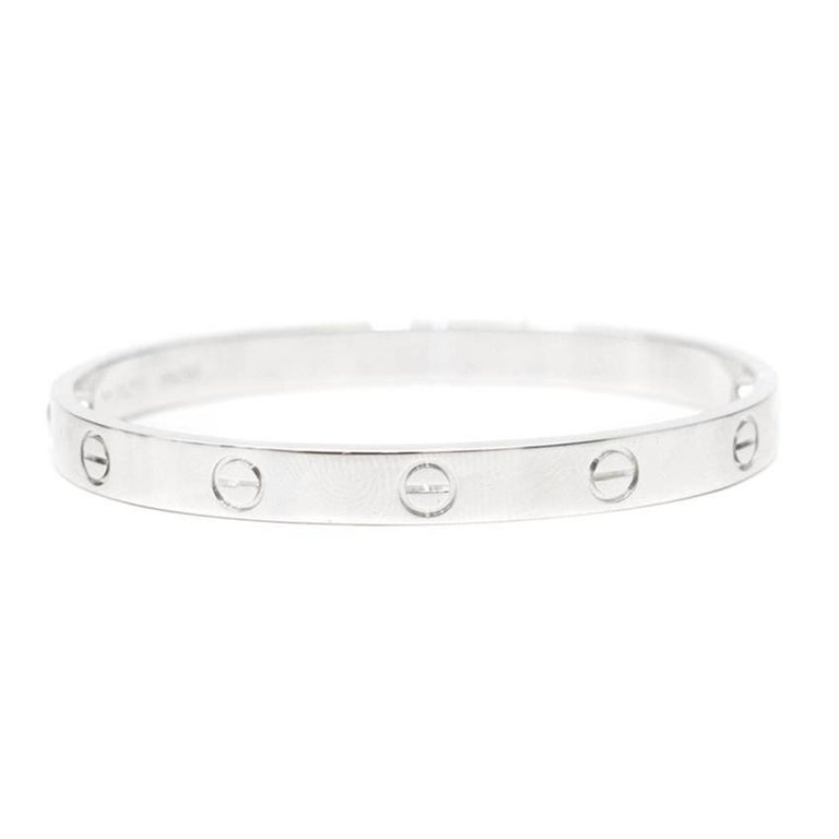 Cartier 18 Karat White Gold Love Bracelet 1