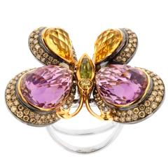 Incredible Diamond Gold Butterfly Ring