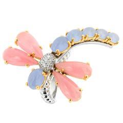 Jade Diamond Gold Dragonfly Ring