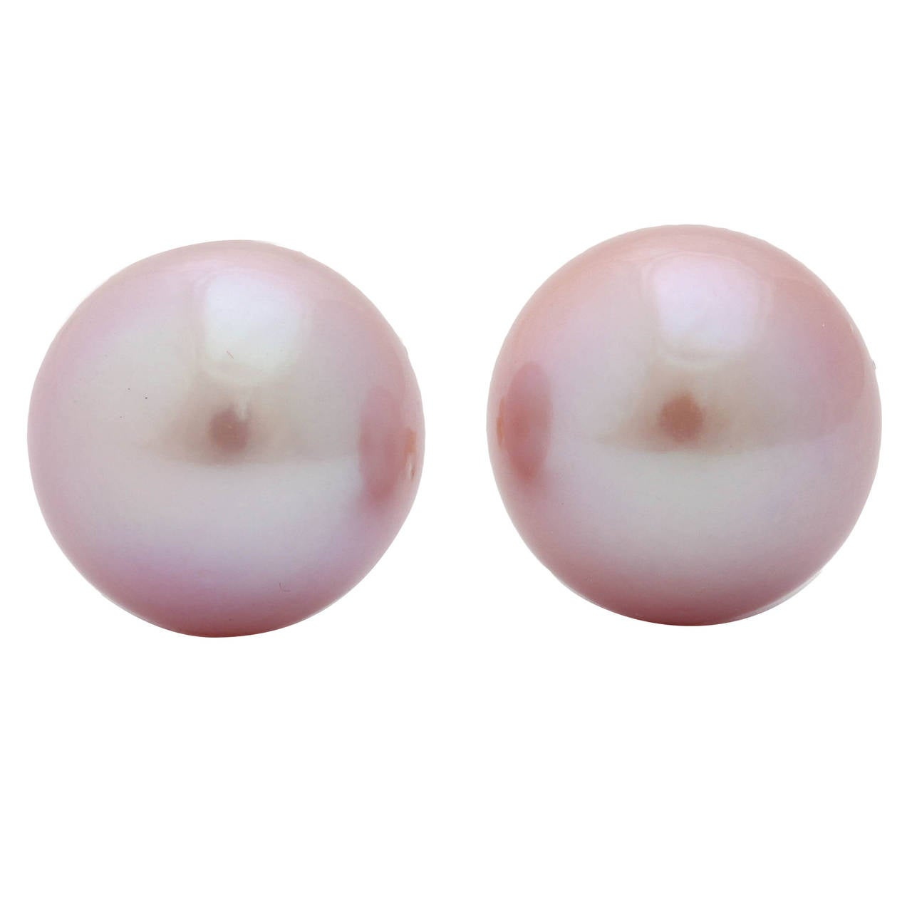 Superb Pink Pearl Earring Studs 1