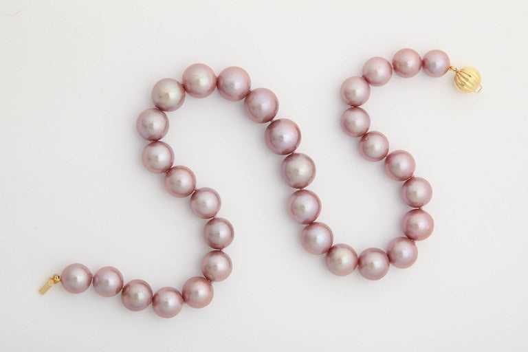 Exquisite Pink Pearl Necklace 6