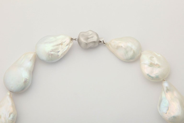 Extra Large Baroque Pearl Necklace For Sale At 1stdibs