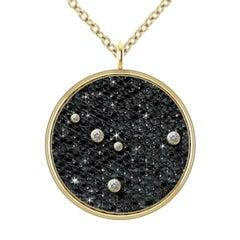 Hugo & Haan Gold Diamond Cancer Zodiac Constellation Star Pendant Necklace