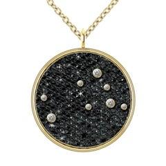 Hugo & Haan Gold Diamond Gemini Zodiac Constellation Star Pendant Necklace
