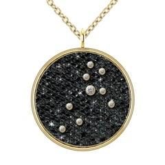 Hugo & Haan Gold Diamond Leo Zodiac Constellation Star Pendant Necklace