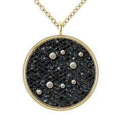 Hugo & Haan Gold Diamond Sagittarius Zodiac Constellation Star Pendant Necklace