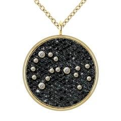 Hugo & Haan Gold Diamond Scorpius Zodiac Constellation Star Pendant Necklace