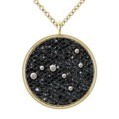 Hugo & Haan Gold Diamond Virgo Zodiac Constellation Star Pendant Necklace