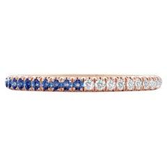 Hugo & Haan Rose Gold Blue Sapphire Diamond Bicolour Ring