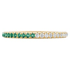 Hugo & Haan Yellow Gold Emerald Diamond Bicolour Ring