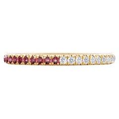 Hugo & Haan Yellow Gold Ruby Diamond Bicolor Ring