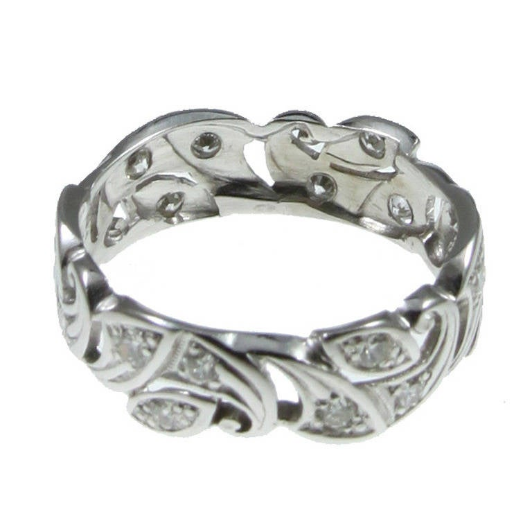 ornate platinum ring at 1stdibs