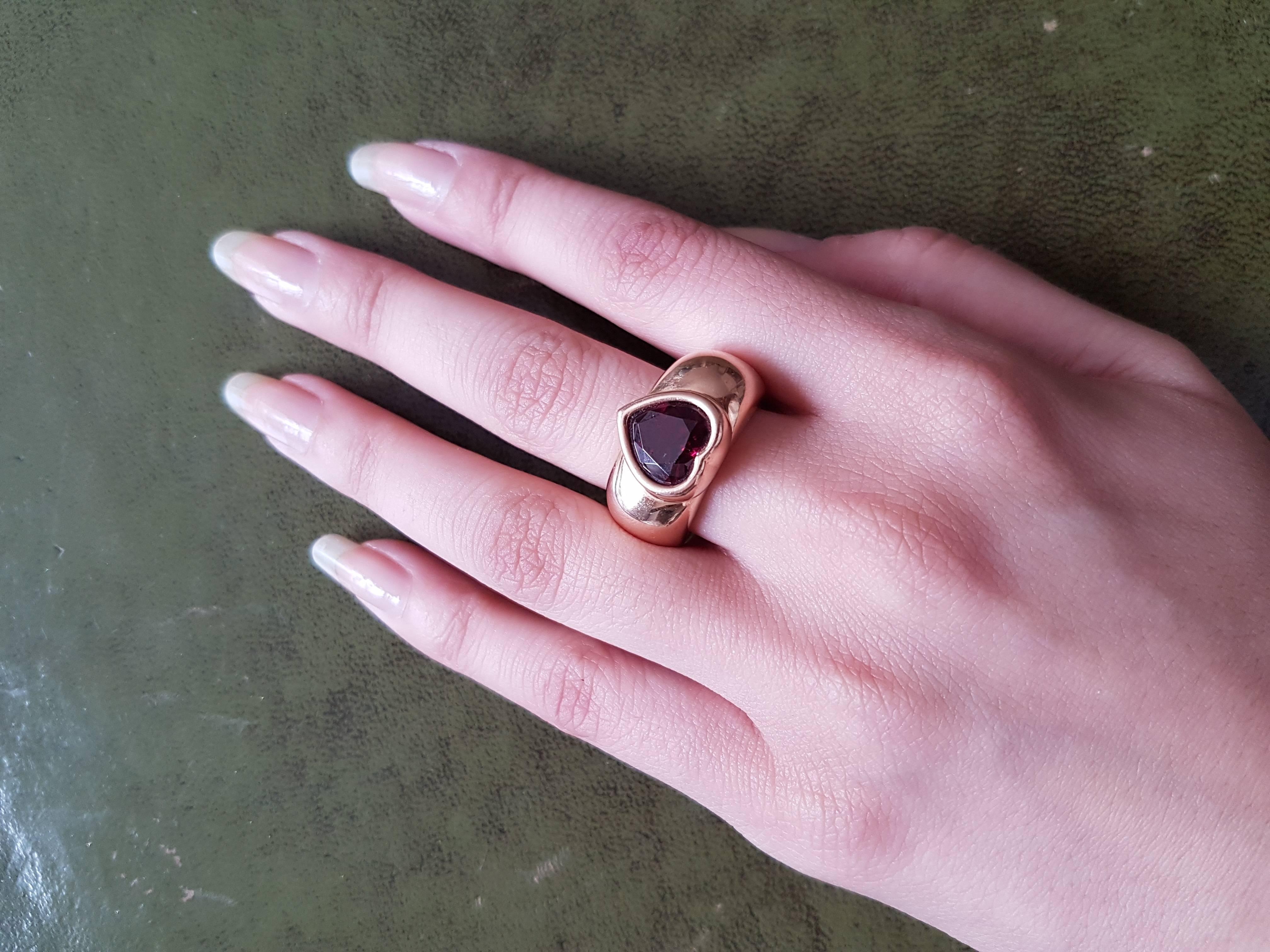 Piaget Garnet Heart Ring For Sale at 1stdibs